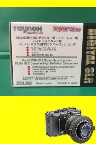 Raynox MSN-202 Macro Lens 4 Canon XA10//XF105//XF100//M40//M41//M400//M46//M406//M30//M31