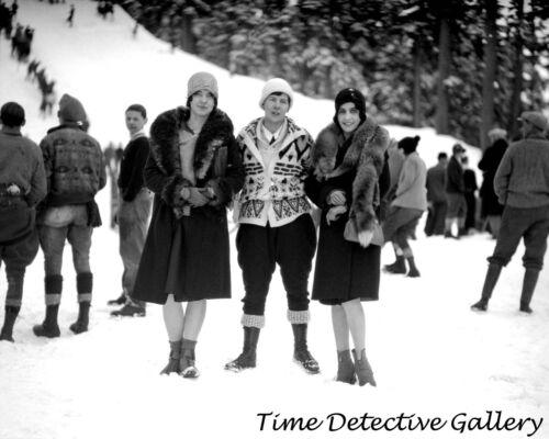 Vintage Photo Print Three Snow Bunnies