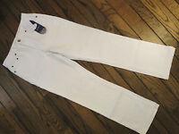 Diane Gilman White American Flag Stretch Jeans Size 6