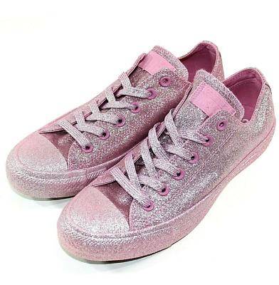Converse All Star Chuck Talor Pink Glitter Sparkle Rare Limited Women's 10 Men 8 | eBay
