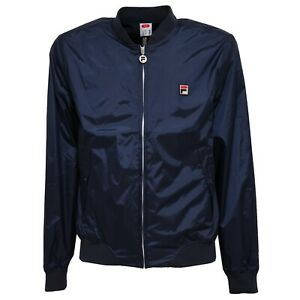 Details about 2212z Windproof Jacket Mens FILA Bomber Blue Windbreaker Man show original title