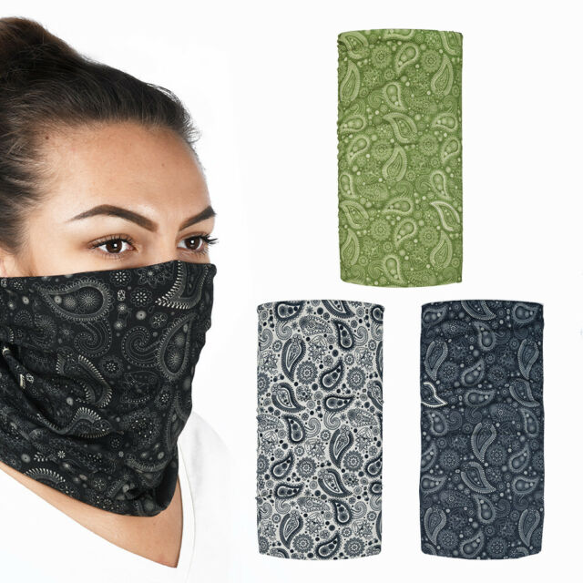 Oxford Comfy Multi Function Face Mask Head Covering Motorcycle Neck Tube Paisley