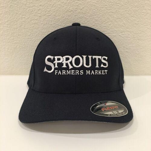 Sprouts Farmers Market Flexfit Cap Wool Blend Hat Yupoong 6477 Dark Navy L//XL
