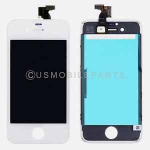 White-LCD-Screen-Display-Touch-Screen-Digitizer-Frame-Assembly-For-Iphone-4S