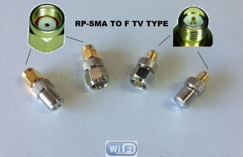 4pc//set RF coaxial adapter connector Kit F TV Male Female to RP-SMA Male Female