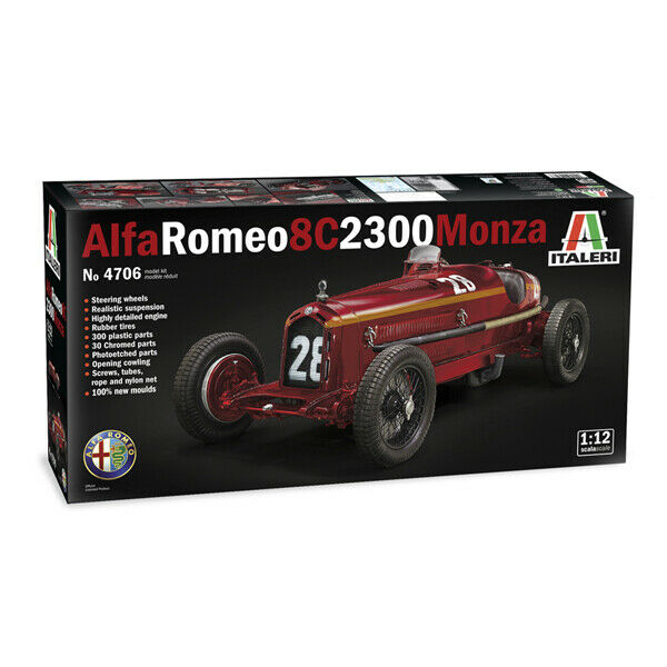 NUVOLARI  figure ALFA ROMEO 8C 1//12 FPPM unassembled model kit for ITALERI kit