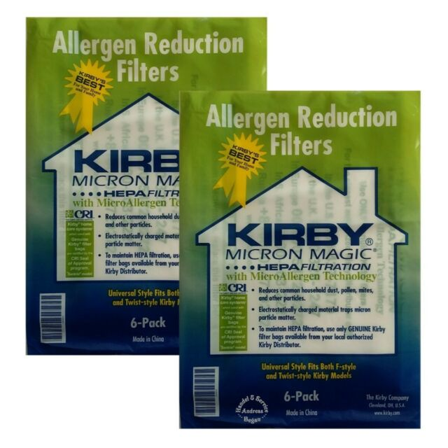 Sonderangebot >> 2 x 6 Original Kirby Allergen Hepa Filter >> Twin << (204811)