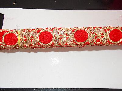 1m wine gold sequin indian arabic ribbon braid trim lace bridal trimming