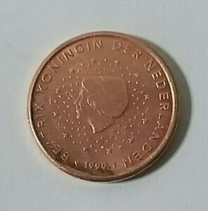 Nederlands-Currency-Coin-of-1-Euro-Cent-Year-1999-A-VERY-FINE-amp-NICE-Coin
