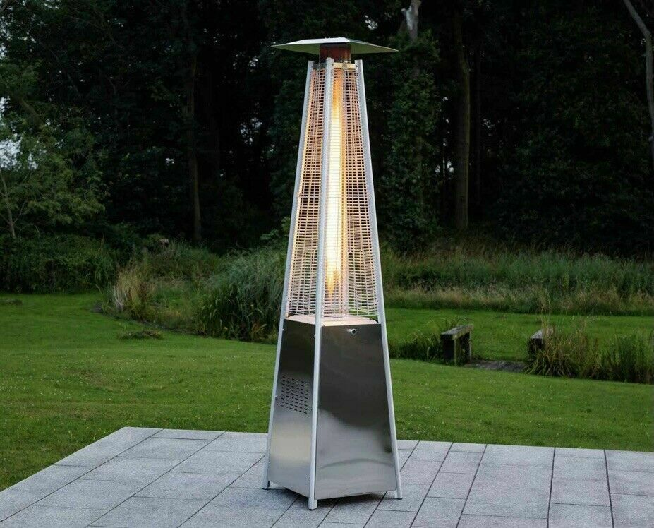 LuxuryHeaters Pyramid Patio Heater Outdoor Gas Freestanding Stainless