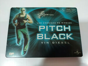 Pitch-Black-Las-Cronicas-de-Riddick-Vin-Diesel-Steelbook-DVD-Espanol-English