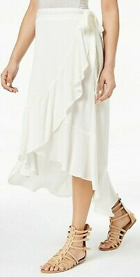 Skirts American Rag New Juniors' High-low Wrap Skirt Egret Large Nwt Msrp $49 Beneficial To The Sperm