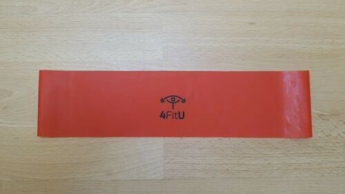 Workout Anywhere Red Band Resistance Bands Single or Set of 3 or 4 Bands