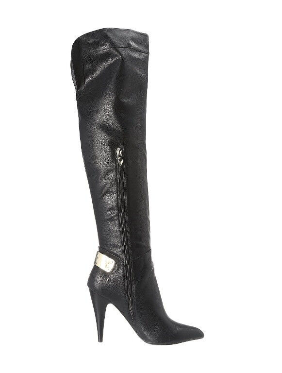 NEW FERGIE BLACK RICH OVER THE KNEE BOOTS Schuhe SZ 8.5