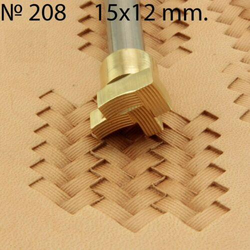 Stamp tool Leather crafting crafts brass saddle making stamps saddle #208