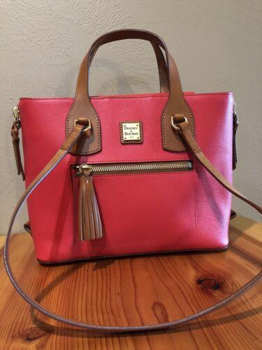 Dooney and Bourke Leather Shopper w/side zips