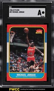 1986 Fleer Basketball Michael Jordan ROOKIE RC #57 SGC AUTH