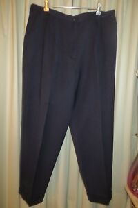 VINTAGE-DALKEITH-Navy-Wool-Blend-PANTS-Cuffs-Size-18-20
