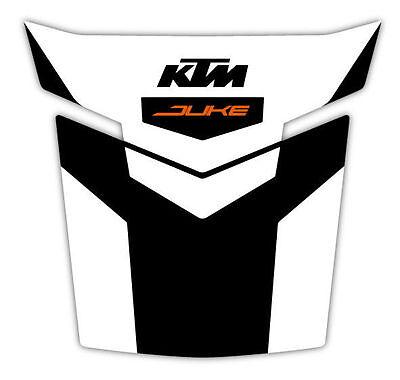 PARASERBATOIO ADESIVO RESINATO BIANCO ARANCIO FITS KTM DUKE 125 250 390