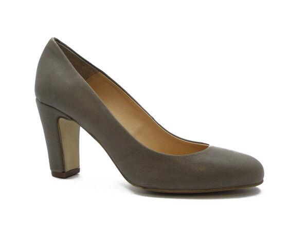chaussures femmes Decollete Comode in Pelle gris Tacco Medio 7cm Mercante di Fiori