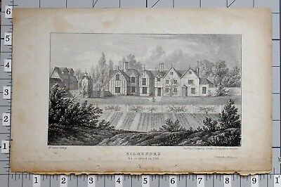 C1860 Antique Print Kilhendre As It Stood In 1795 Aromatic Character And Agreeable Taste Art