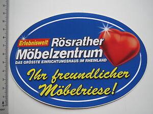 Details Zu Aufkleber Sticker Rösrather Möbelzentrum Wohnen Möbelriese 7568