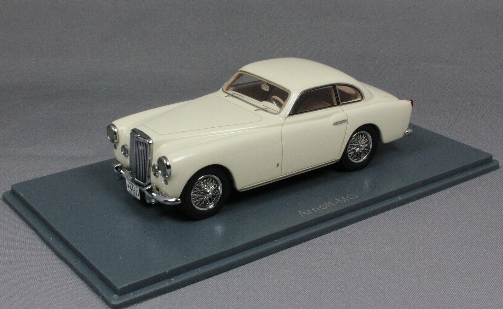 Neo Models Arnolt MG  in blanc 1953 44611 1 43 nouveau Resin  meilleur service