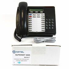 Mitel Superset 4025 Backlit Dark Grey Charcoal Phone Bulk 9132 025 202