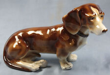 Dackel hund porzellan  figur dachshund teckel hundefigur porzellanfigur o
