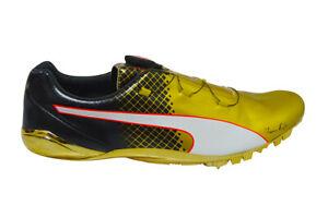 Details about Mens Puma EvoSpeed Disc Bolt Tricks RARE Usain Bolt 18932101 Gold Black T