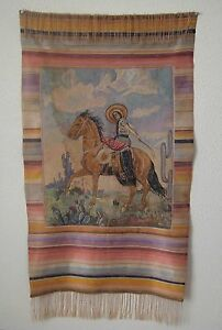 Vintage Mexican Crewel Tapestry 553 Ebay
