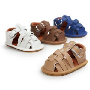 Toddler-Kid-Baby-Boy-Girl-Sandals-Leather-Soft-Sole-Casual-Summer-Weave-Shoes-AU