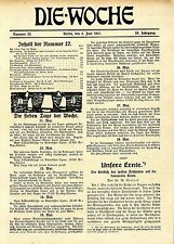 CHAMPAGNE Original-Titelblatt * Schlagzeilen * Nachrichten * Zeitdokument 1917