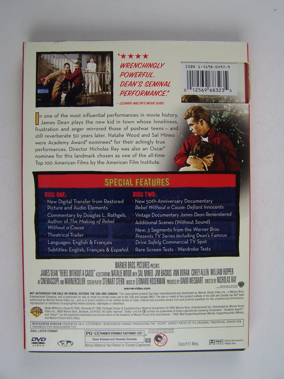 James Dean Rebel Without a Cause Two-Disc Special Editi