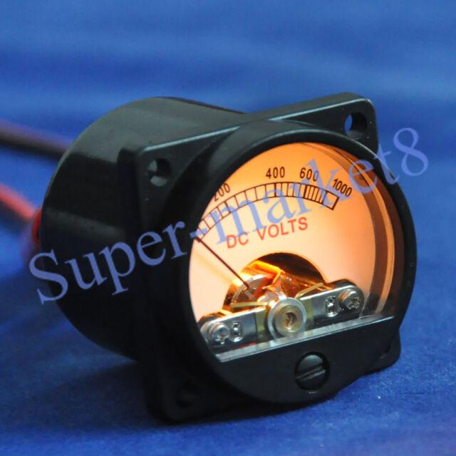 1000V DC Panel Meter Warm Back Light Tube Amplifier Audio Voltmeter