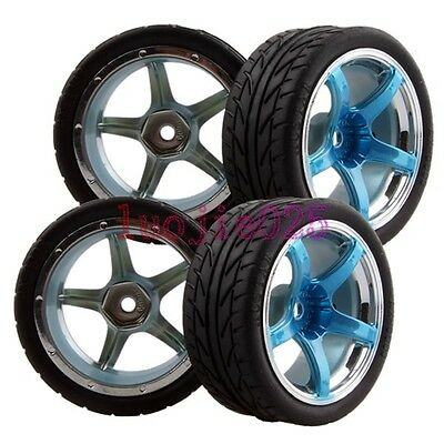RC 1/10 On-Road Racing Car Foam Rubber Tyre Tires Wheels Rims FIT HSP HPI Redcat