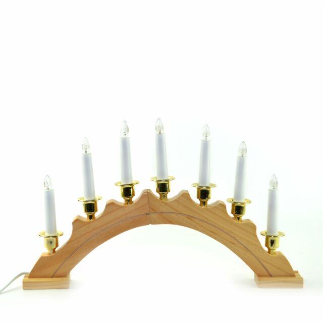 Wooden Pre-Lit 7 LED Candle Bridge Arch Window Christmas Tree Decoration Light