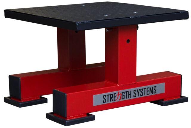 Adjustable Plyo Squat Box - Powerlifting Crossfit Plyometric Block - Red/Black