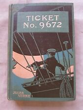 Old Rare Antique Book Ticket No. 9672 by Jules Verne Dated 1886 1st Ed.GC