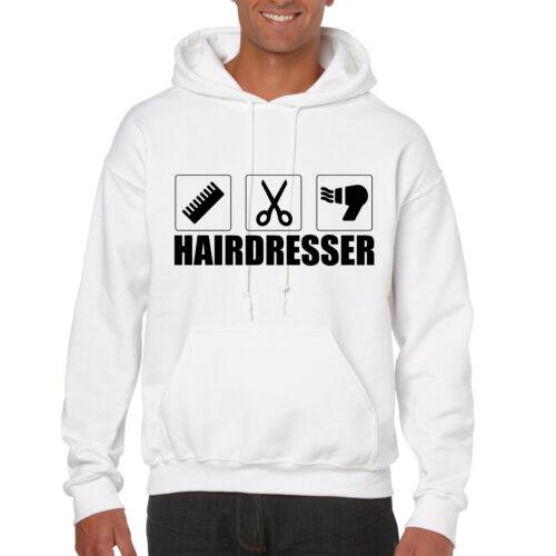 Grabmybits-PARRUCCHIERE Design Felpa con cappuccio-REGALO Stylist Hair Cut felpa con cappuccio