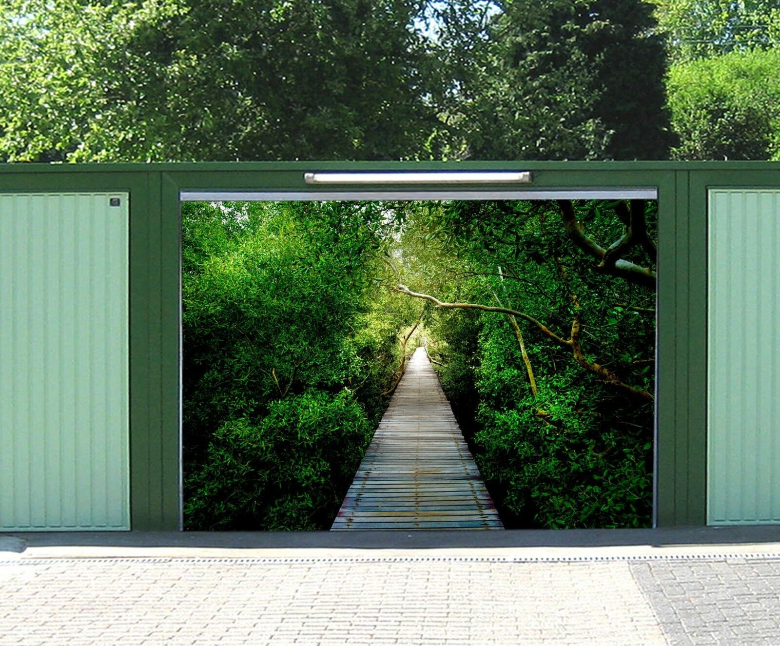 3D Forest Road 72 Garage Door Murals Wall Print Decal Wall AJ WALLPAPER AU Carly