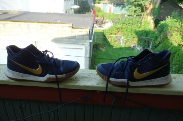 the best attitude 7f62f 38124 Nike Kyrie 3 Obsidian Metallic Gold Size 9 852395-400 Olympic