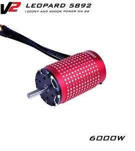 By EXPRESS! New Leopard 5892 V2 1200KV 8S 6000W 58*92mm Brushless Car Motor