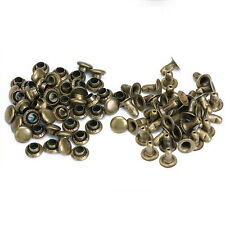 100 Sets Antique Brass Round Rivets Rapid Studs 6mm LEATHER Decorative TOOL