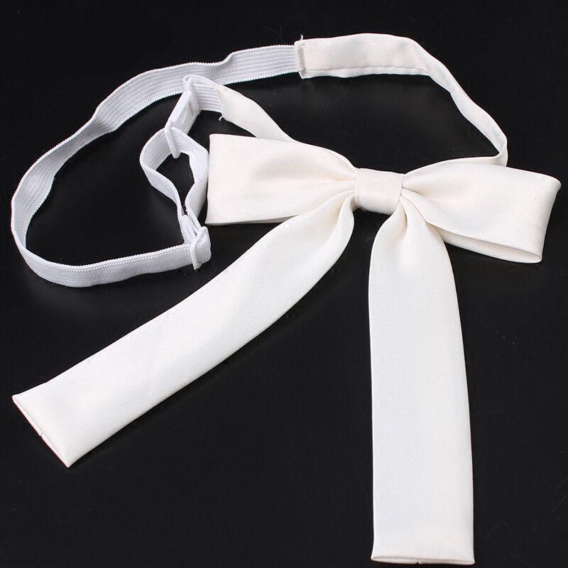 Womens Satin Silk-like Adjustable Ribbon Bows Bowknot Bow Tie Necklace Choker