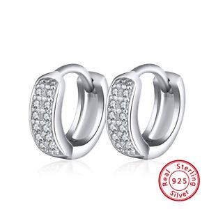 Damen-Ohrringe-Klapp-Creolen-925-Sterling-Silber-Zirkonia-Ohrschmuck-Geschenk-DE