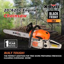 "X-BULL 20"" Bar Gasoline Powered Chainsaw 62cc Engine 2 Cycle Chain Saw"