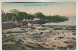 India postcard - The River & Bund Gardens, Poona (A70)