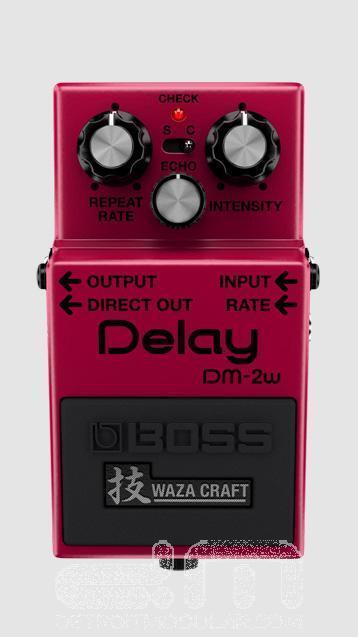 Boss DM-2w Waza Handwerk Verzögerung  Effekt Pedal   Neu Detroit Modular]