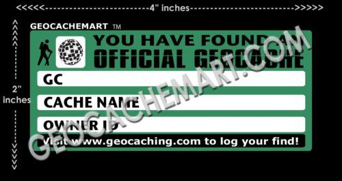 30 Small GEOCACHE Labels Vinyl Stickers UV COATING Geocaching PEEL /& STICK Swag